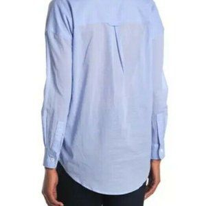 Line Pierre Long Sleeve Button Front Poplin Shirt